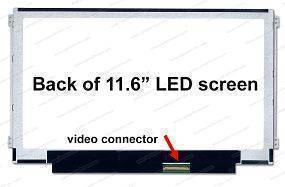 116SlimL-R40P, LCD Screen 11.6'' WXGA(1366x768) MATE, LED.