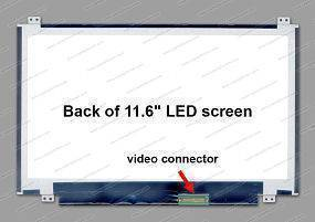 116SlimU-D40P, Screen 11.6'' WXGA(1366x768) Glossy, LED