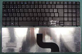 KeyAce5733-6800, keyboard for Acer 5733-6800, Spanish, Black