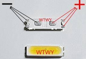 LedLcd6V7020, LED for LCD Backlight, SIZE: 7020, 1w, 6,0v, c